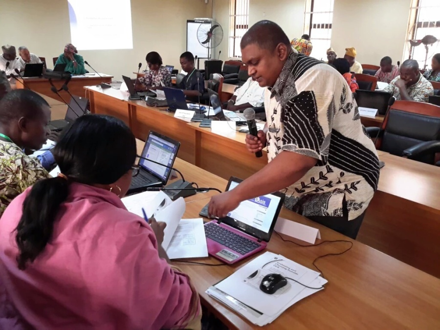 OER course development workshop at Yaba Colleage of Technology, Lagos, Nigeria