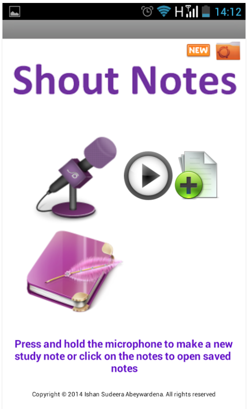Shout Notes Android mobile app