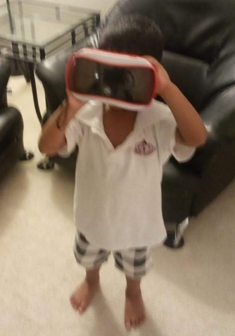child with VR